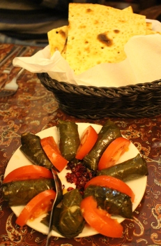 Dolme vine leaves