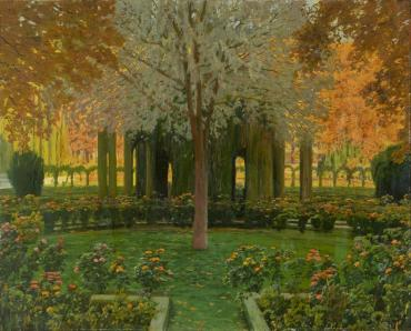 Rusiñol, La glorieta de los cipreses del jardín del príncipe (1930)
