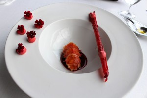 Bogavante asado, descarillado, crocante y su mayonesa - roasted and peeled crispy lobster and its mayonnaise